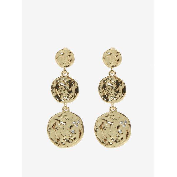 Cercei lungi glossy aurii - Pieces Maya