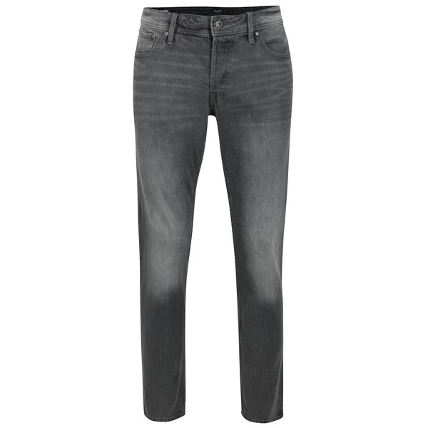 Blugi gri slim fit prespalati Jack & Jones Tim