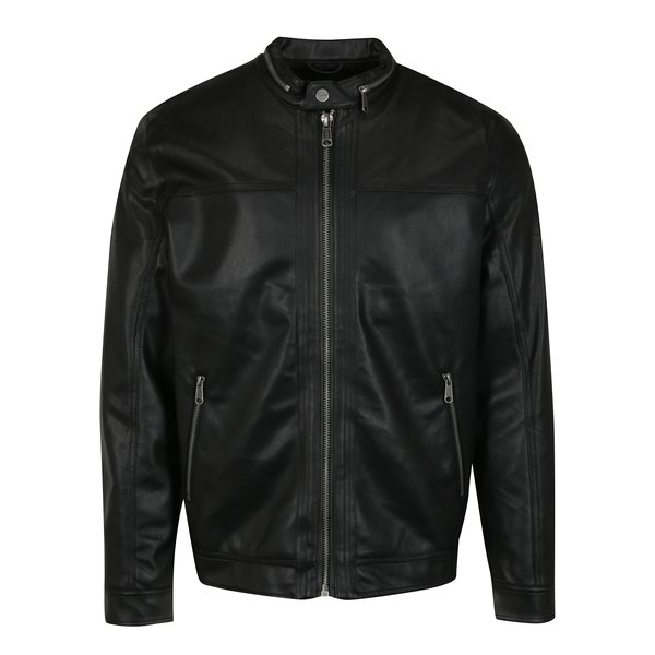 Jacheta neagra din piele sintetica ONLY & SONS London