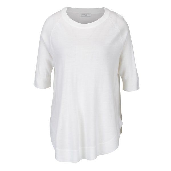 Pulover alb cu terminatie rotunjita Jacqueline de Yong Limbo
