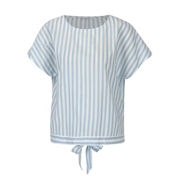 Bluza lejera alb-albastru cu dungi si funda la spate Jacqueline de Yong Battle