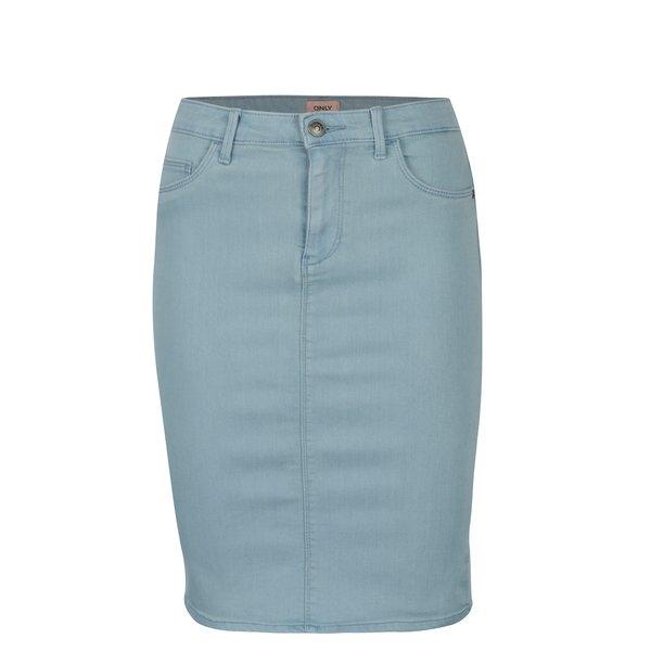 Fusta skinny fit bleu din denim ONLY Rain