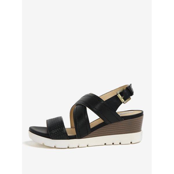 Sandale negre cu platforma si barete incrucisate – Geox Marykarmen