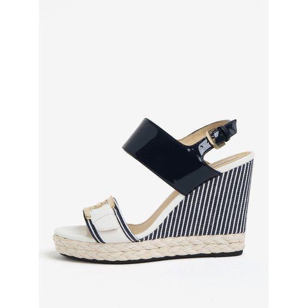 Sandale alb & bleumarin cu platforma – Geox Janira