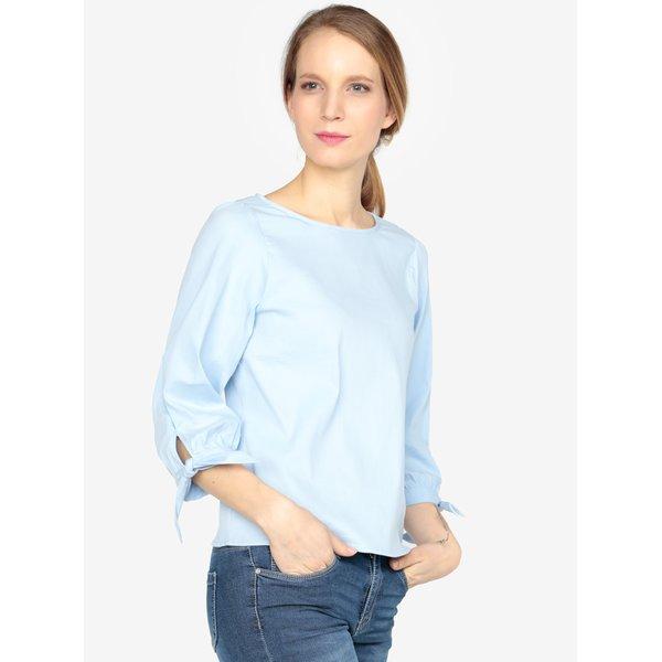 Bluza bleu cu dungi in relief si maneci 3/4 VERO MODA Sia