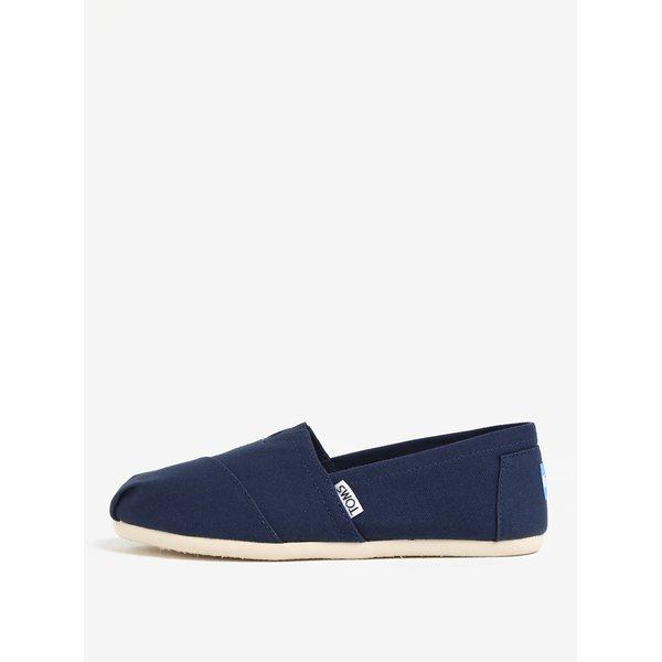 Espadrile bleumarin cu insertie elastica si logo pentru femei - TOMS