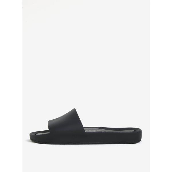 Papuci negri cu aspect mat Melissa Beach Slide