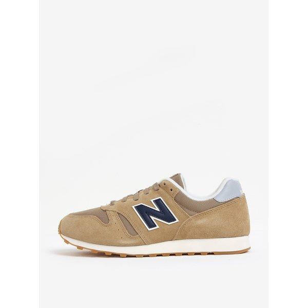 Pantofi sport bej din piele intoarsa cu insertii de plasa pentru barbati – New Balance ML373