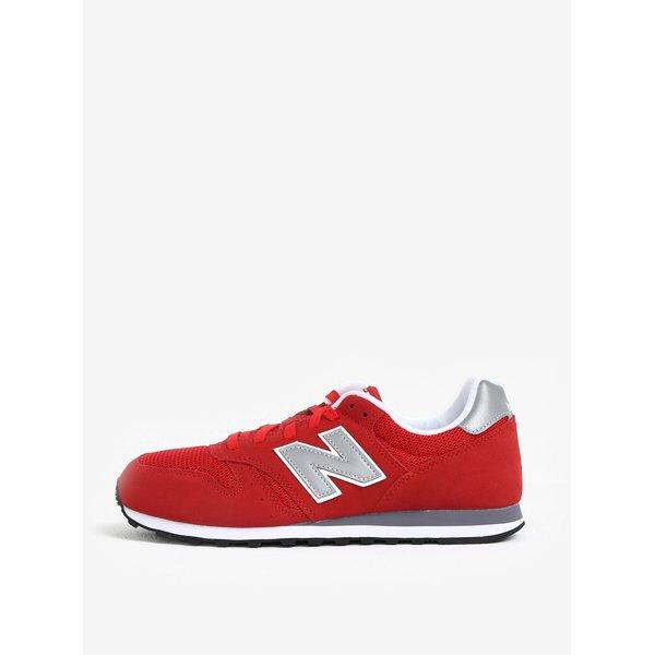 Pantofi sport rosii din piele intoarsa cu detalii din plasa pentru barbati – New Balance ML373