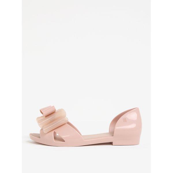 Sandale roz pal cu funda decorativa - Melissa Seduction