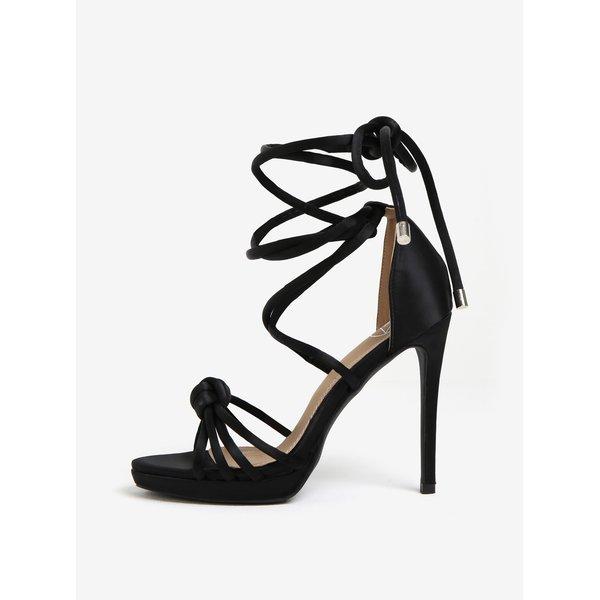 Sandale negre cu toc inalt si barete pe glezna - MISSGUIDED