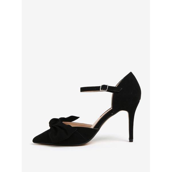 Pantofi negri cu toc si funda decorativa - Dorothy Perkins