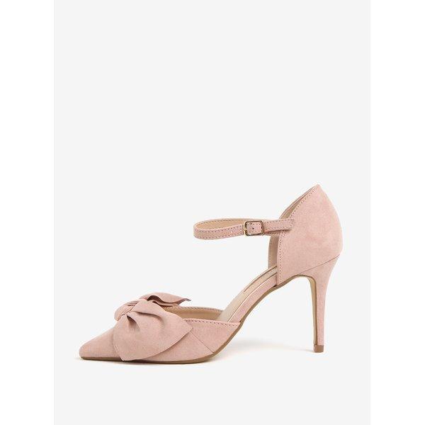 Pantofi roz pal cu toc inalt si funda - Dorothy Perkins