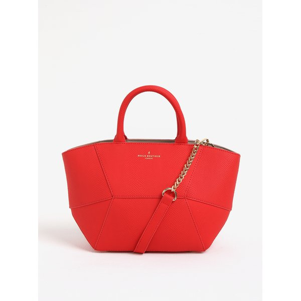 Geanta mica rosie cu model reptila Paul's Boutique Odette