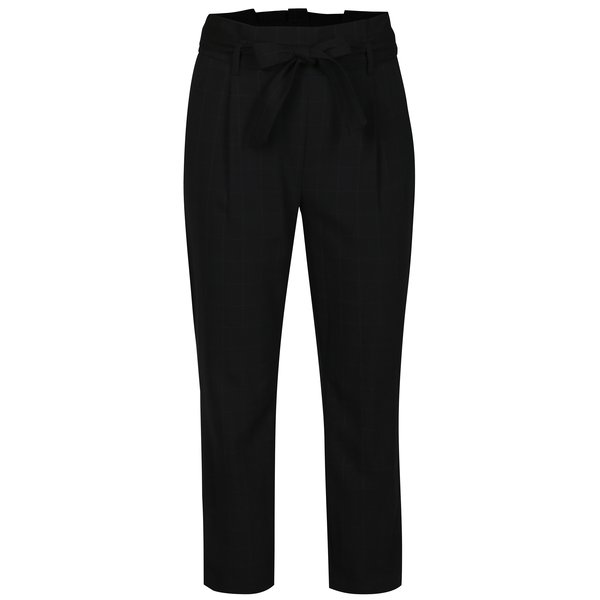 Pantaloni cropped negri in carouri TALLY WEiJL