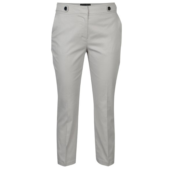 Pantaloni 3/4 gri deschis cu nasturi decorativi - Dorothy Perkins