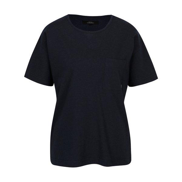 Tricou oversized bleumarin cu buzunar pentru femei Makia