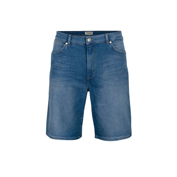 Blugi scurti albastri cu aspect prespalat pentru barbati - Wrangler