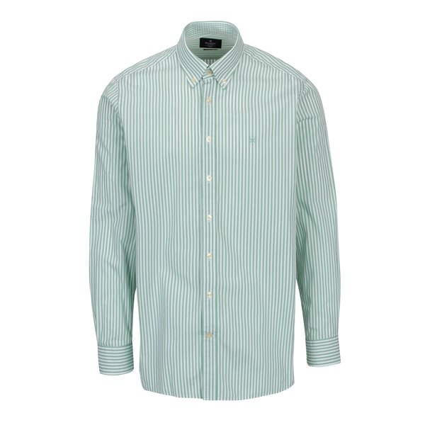 Camasa alb & verde classic fit cu model in dungi - Hackett London