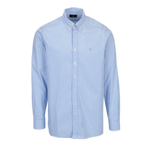 Camasa alb & albastru classic fit cu model in dungi - Hackett London