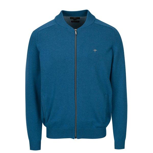 Cardigan albastru tricotat fin cu maneci raglan – Fynch-Hatton