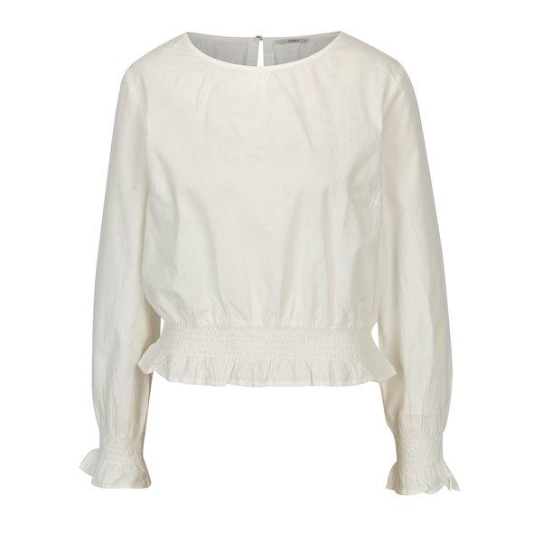Bluza crem cu terminatii elastice - ONLY Maia