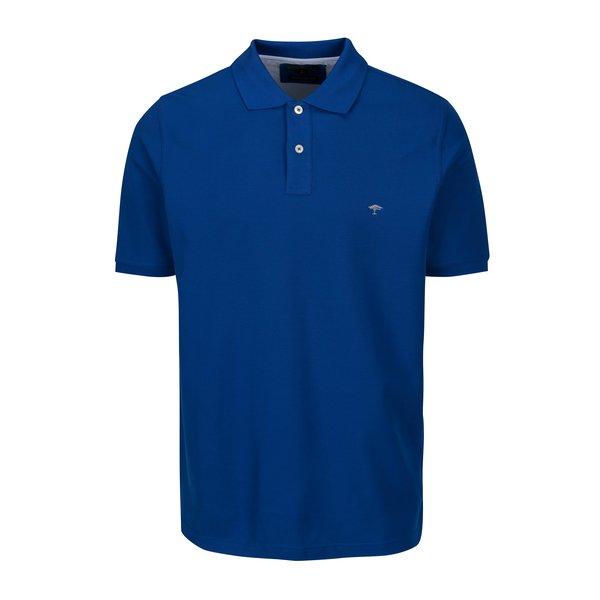 Tricou polo bleumarin cu logo brodat - Fynch-Hatton