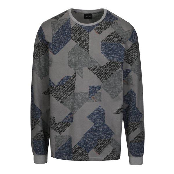 Bluza gri cu print geometric ONLY & SONS Kenneth