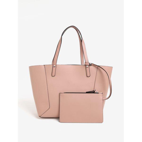 Geanta shopper reversibila 2 in 1 roz & argintiu - Miss Selfridge