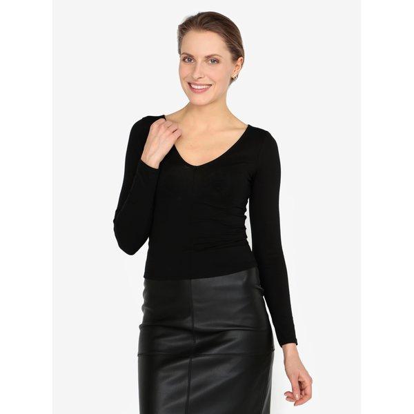 Bluza neagra cu decolteu anchior - Miss Selfridge