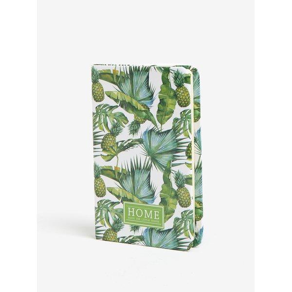Carnet verde cu print ananas - Kaemingk A6