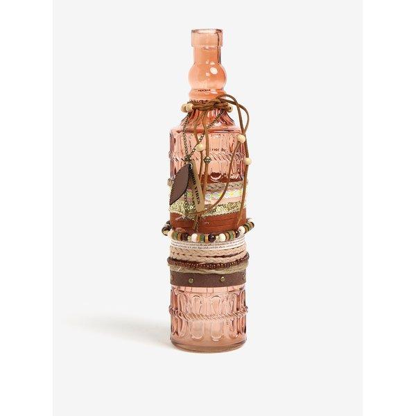 Sticla decorativa maro cu aplicatii – Kaemingk