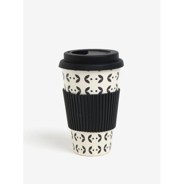 Cana de calatorie alb & negru cu print - Kaemingk