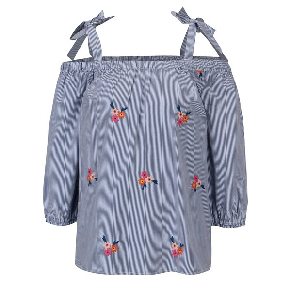 Bluza cu decolteu pe umeri si bretele ajustabile Dorothy Perkins