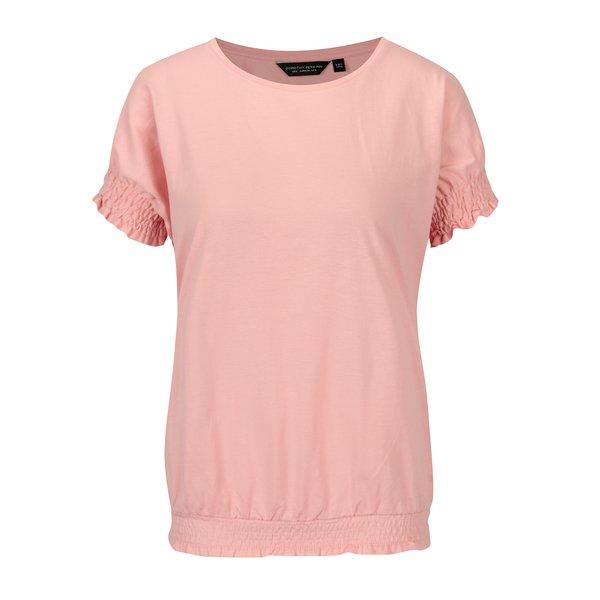 Tricou roz cu insertie elastica Dorothy Perkins
