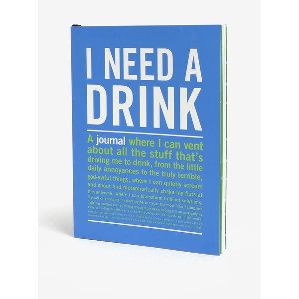 Carnet / jurnal albastru cu print - Knock Knock