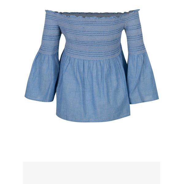 Bluza albastra cu decolteu pe umeri Dorothy Perkins