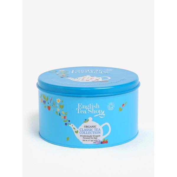 Cutie metalica bleu cu ceai organic asortat - English Tea Shop