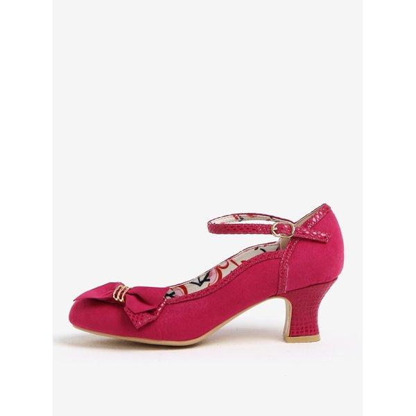 Pantofi roz decupati cu toc mediu si bareta - Ruby Shoo Cordelia