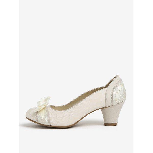 Pantofi alb prafuit cu model si funda – Ruby Shoo Hayley