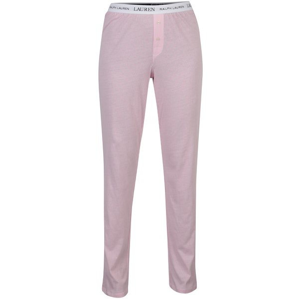 Pantaloni de pijama rozi in dungi pentru femei – Lauren Ralph Lauren