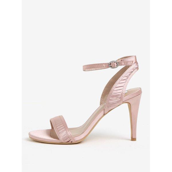 Sandale roz pal satinat cu pliseuri si toc inalt - Dorothy Perkins