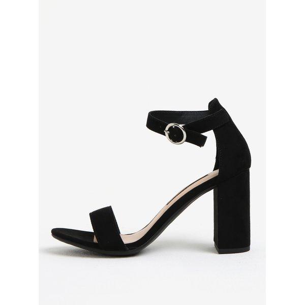 Sandale negre cu toc inalt si bareta pe glezna - Dorothy Perkins