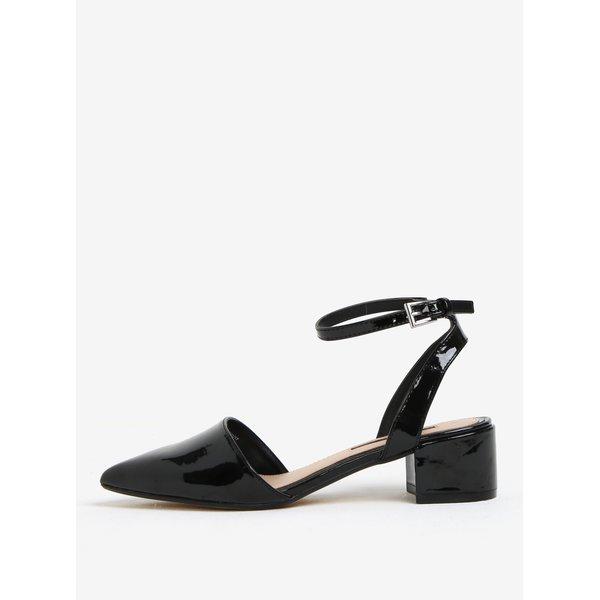 Sandale de lac negre cu varf ascutit si toc mic - Dorothy Perkins