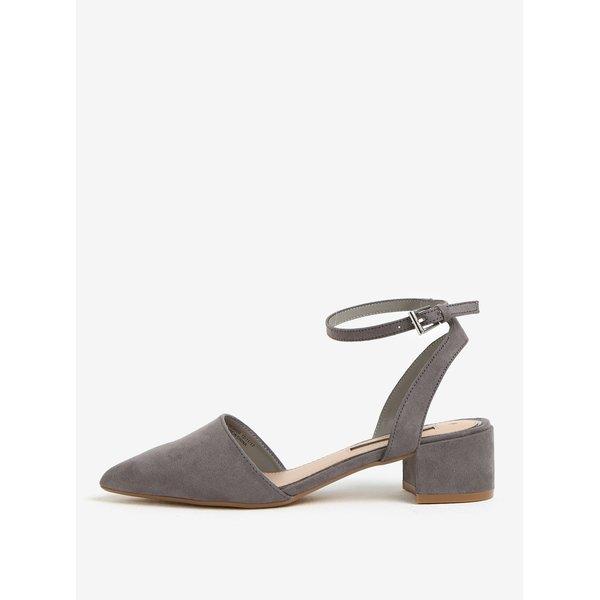 Sandale gri cu varf ascutit si toc mic – Dorothy Perkins