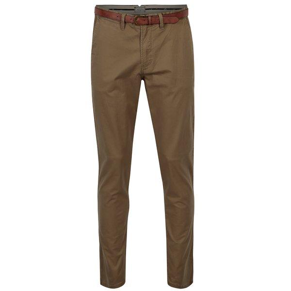 Pantaloni chino maro cu curea – Jack & Jones Spencer