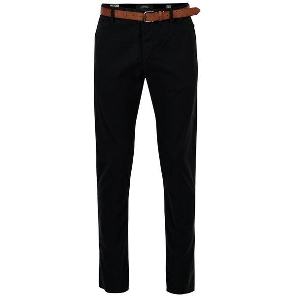 Pantaloni chino bleumarin slim fit cu curea pentru barbati - s.Oliver