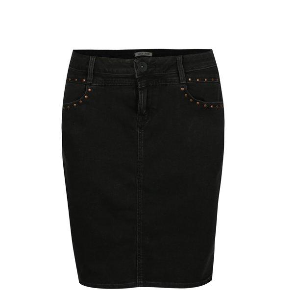 Fusta neagra din denim - Garcia Jeans