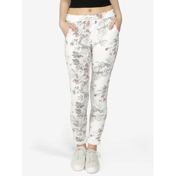 Pantaloni sport crem cu print floral - Hailys Jada