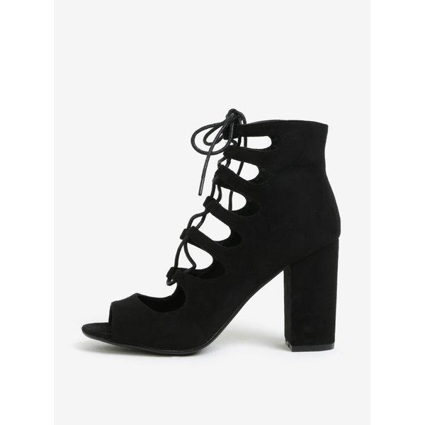 Sandale inalte negre cu sireturi - MISSGUIDED